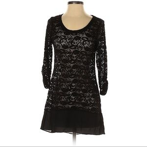 COPY - Maurices black lace tunic blouse size small
